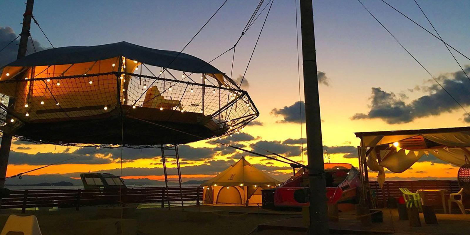 グランピング福岡 ぶどうの樹~海風と波の音」<公式サイト>